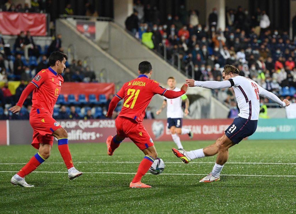 Inglaterra con suplentes destroza a Andorra